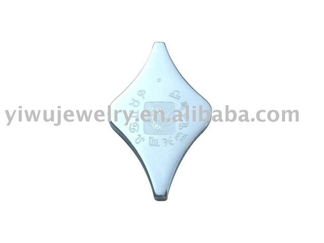 Stainless steel Pendant Free Shipping PB061 4PC/Lot  S.S316L Surgic Charm Stainless Steel Jewelry