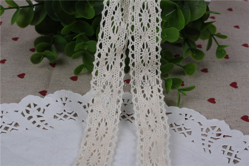 200 Yard Antique Style Crochet 100% Cotton Cluny Crochet Cotton Lace Trim Edging Wedding Sewing wholesale .(China (Mainland))