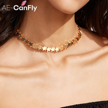 Buy Simple Metal Gold Silver Color Star Chunky Chain Choker Necklace Women Collars Necklaces Jewelry NX021 for $2.39 in AliExpress store