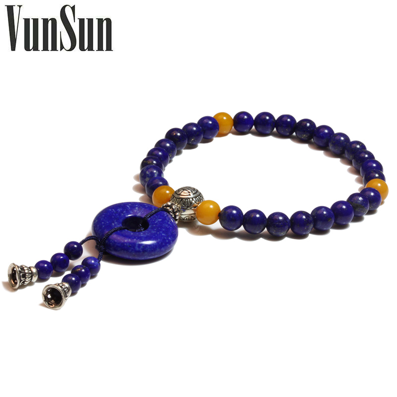 Здесь можно купить  Vunsun natural crystal gift 925 pure silver lapis lazuli bracelet national trend accessories Women  Ювелирные изделия и часы