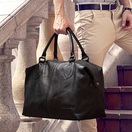 Hot Sale Korean Style 2014 Fashion Men's Messenger Bags Briefcase Large Tote Bag Men's Travel Bag Leather Bags Free Shipping(China (Mainland))