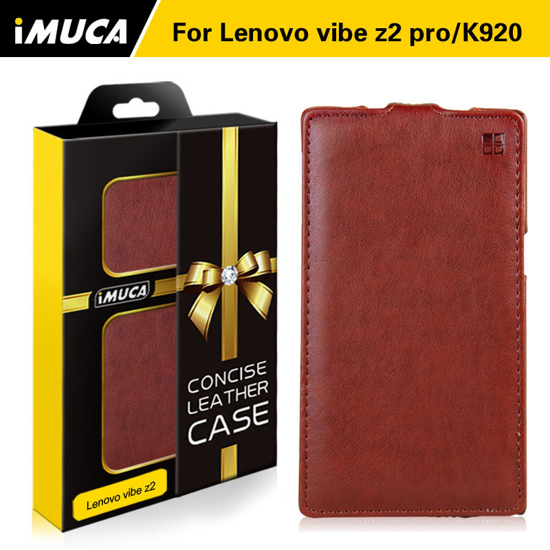lenovo vibe z2 pro case 100% original leather case for Lenovo k920 Vertical Flip Cover Mobile Phone Bags & Cases Accessories(China (Mainland))