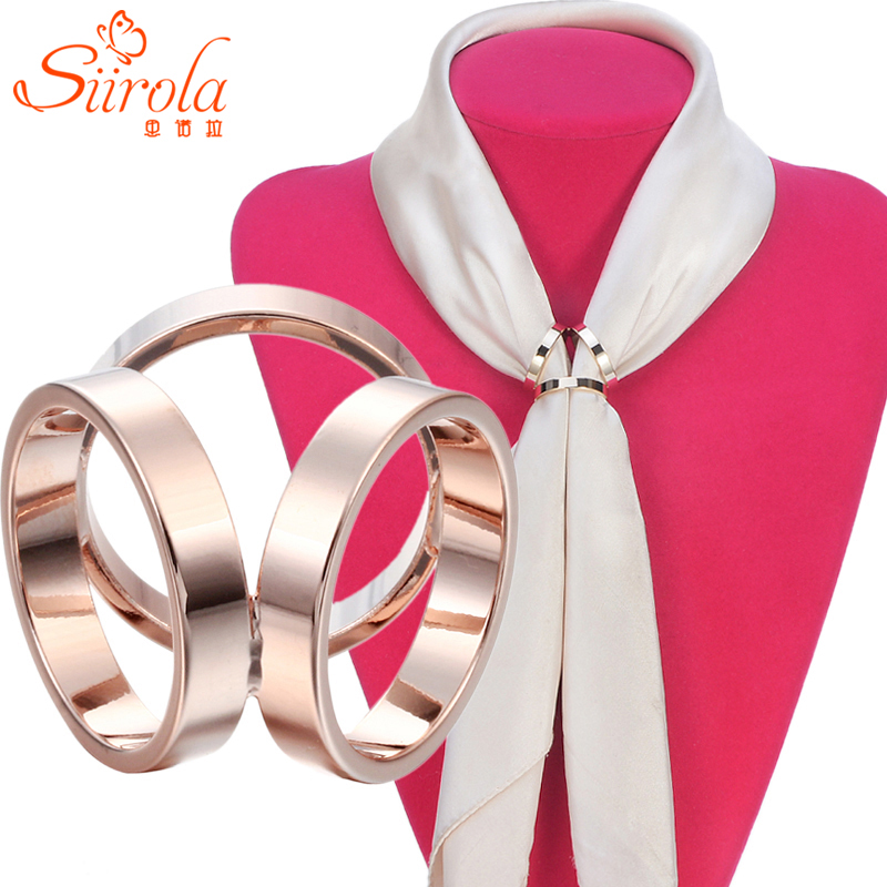 Top quality! Simple fashion Women Jewelry Brass & Real gold plating Letter H Brooch Pins Shawl Scarves Scarf buckle clips 3 Size(China (Mainland))