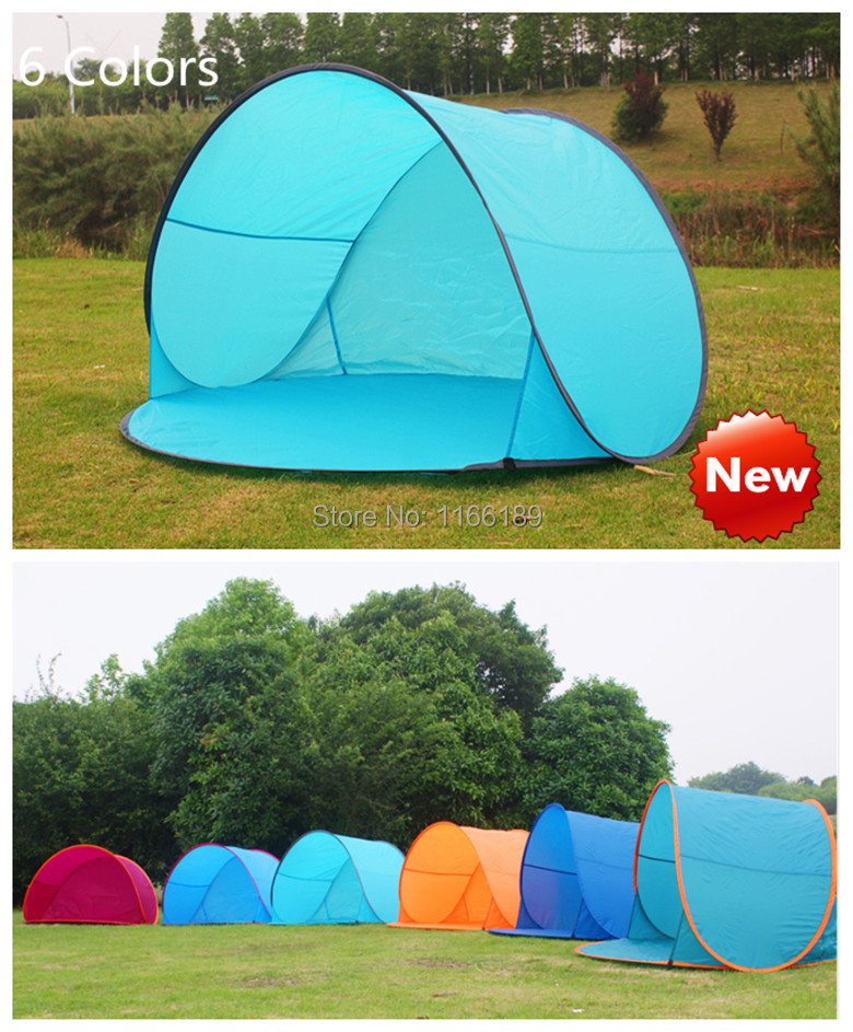 Outdoor camping hiking beach summer tent UV protection fully automatic sun shade quick open pop up beach awning fishing tent(China (Mainland))