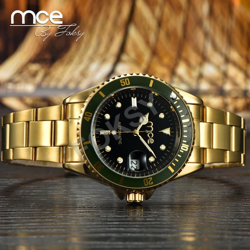 Mce фирменные Часы Дорогой Бренд Из Нержавеющей Стали золотые Часы стиль, с оригинальной подарочной коробке 32