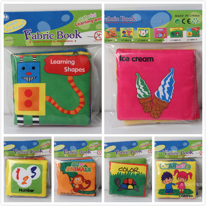 2016 Fashion Baby Toys Baby cloth book knowledge around multi-touch fun and colorful(China (Mainland))