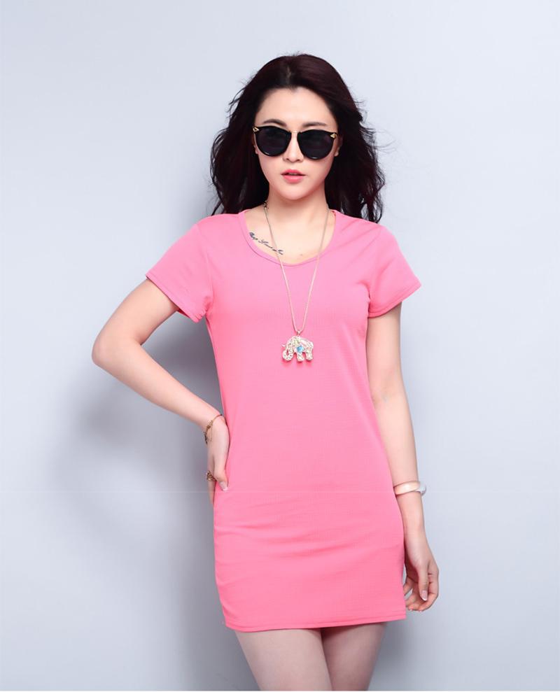 12 colors summer clothes women mini dress solid short ...