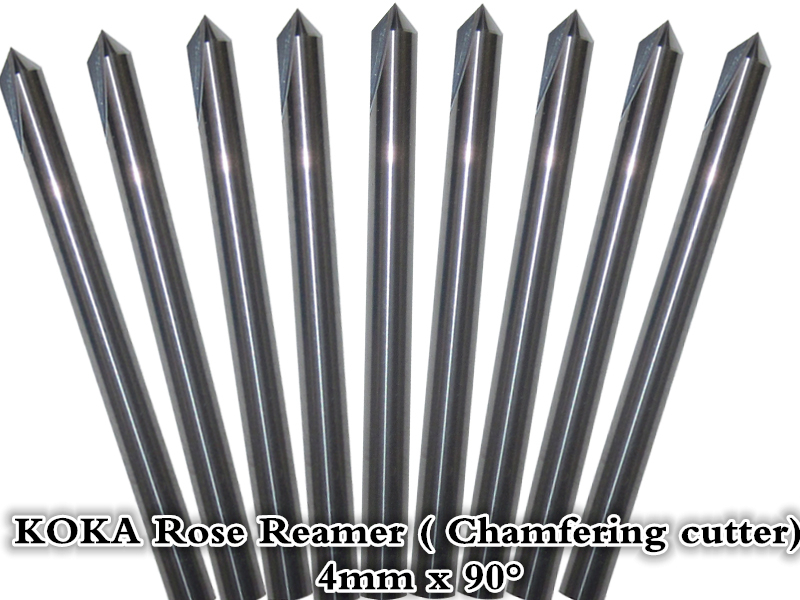 4mm*90degree,Freeshipping,CNC rose reamer ,carbide woodworking insert router bit,Tungsten Chamfering milling cutter,wood tool(China (Mainland))