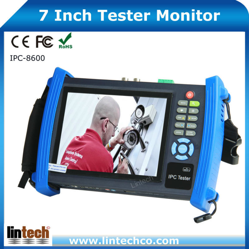 Multi-functional 7 Inch Touch Screen IP CCTV kamera Tester Monitor ,network tester(China (Mainland))