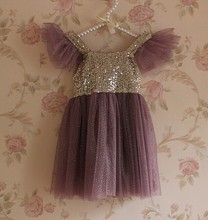 Wholesale Clothing Girls Sequins Dresses Summer Children Gauze Camisole Princess Party Dresses 15061(China (Mainland))