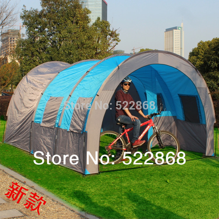 New style good quality big size 5-10 person Outdoor camping tent big tunnel tent outdoor products(China (Mainland))