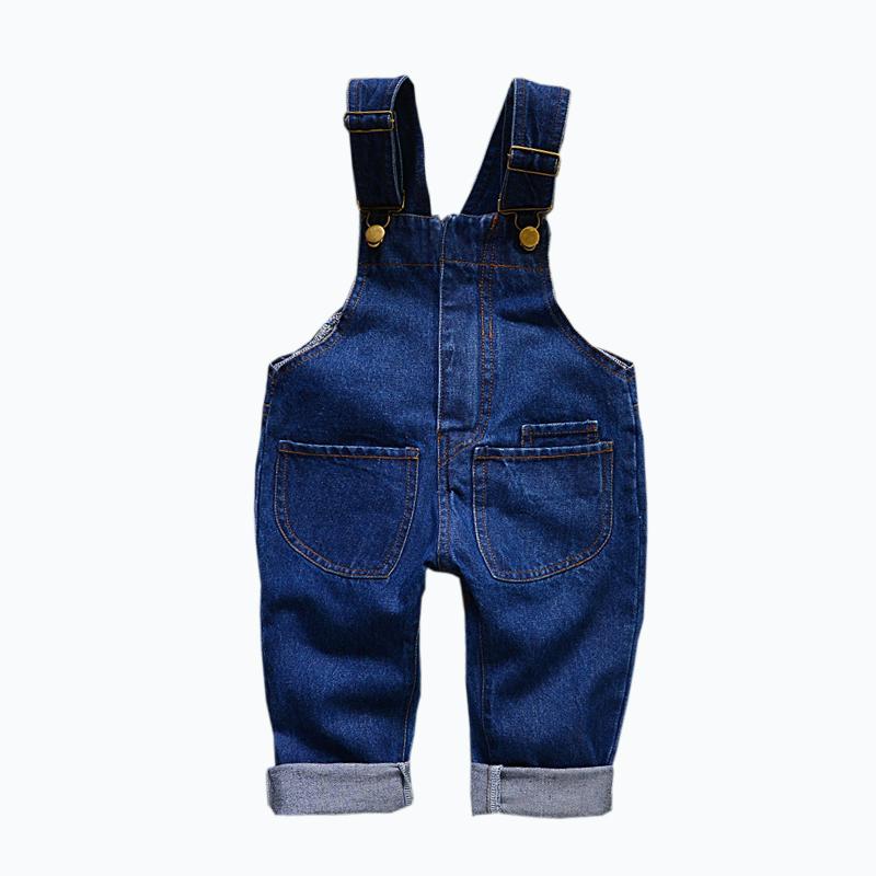 little toddler boys and girls denim overalls children spring treasure pants Denim baby long trousers 1-6 years denim overalls(China (Mainland))