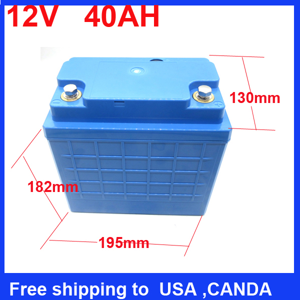 Free shipping China wholesale 12v 40ah Lifepo4 lithium battery pack for LED Panel/light /street/solar system/energy replacement(China (Mainland))