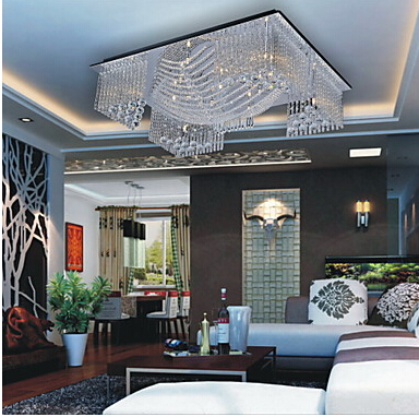 modern Crystal Beaded Ceiling Light with 13 G4 in Warm White Source(China (Mainland))