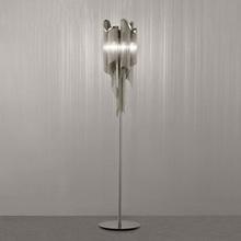 Atlantis Stream Floor Lamp Italy Silver Aluminum Hanging Chain Stand Lamp Modern Living Room Light Art Creative(China (Mainland))