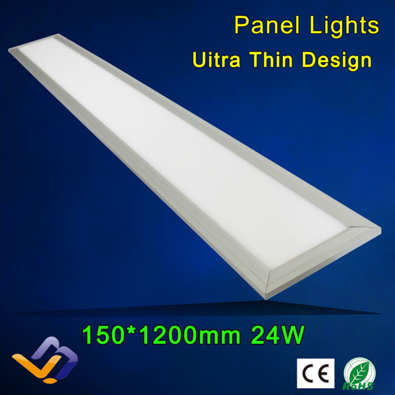 1200*150mm 24W LED panel light SMD2835 School/Hospital/Super market/Workshop/Office/Home/Hotel meeting room lighting White(China (Mainland))