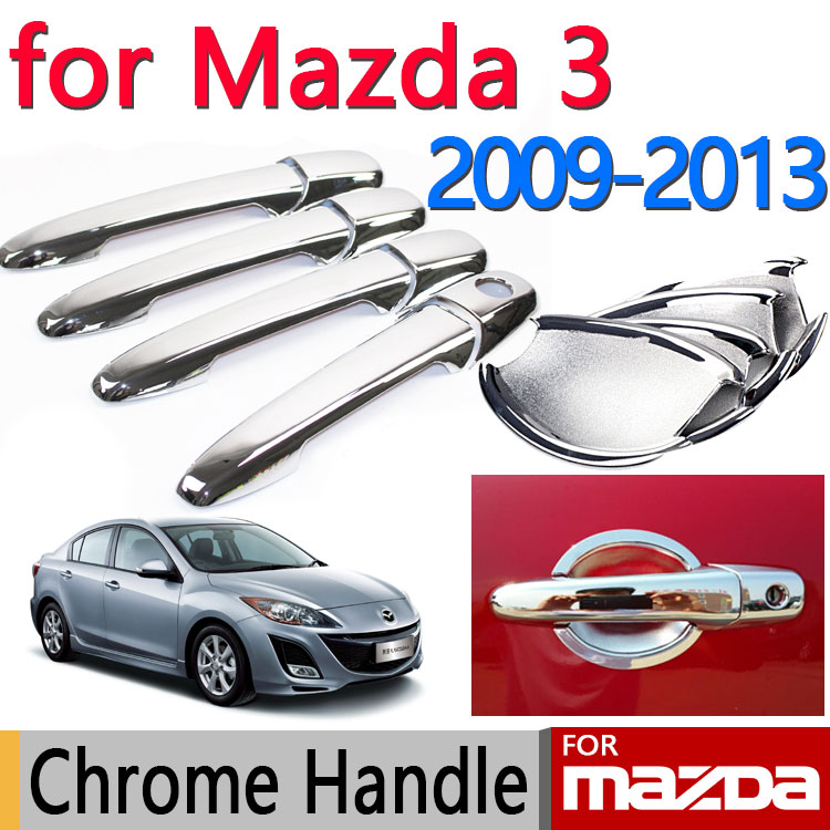 Buy For Mazda 3 2009 2013 Accessories Chrome Door Handle Axela 2010 2011 2012