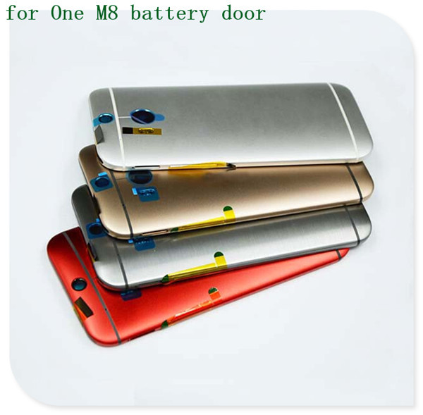 Original Battery Housing/Back Door/Cover/Case for HTC ONE M8 With Side Button Freeshipping(China (Mainland))