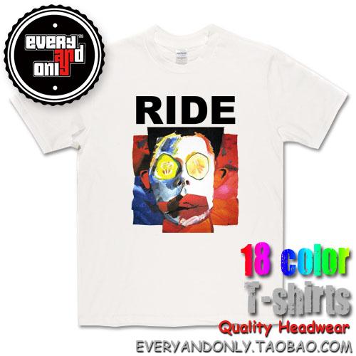 Ride Alternative rock Band Face Dream Pop Cotton T-shirt Tee T Clothing(China (Mainland))
