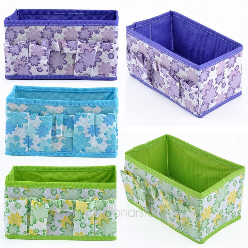 5 Colors Home Office desktop Multifunction Folding Makeup Cosmetics Storage Box Container Case Stuff Organizer FMHM715#S5(China (Mainland))
