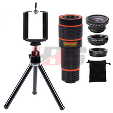 Buy Phone Lens Kit 12X Telephoto Zoom Lentes Telescope+Tripod+Fisheye Wide Angle Macro Lenses Microscope iPhone 6 6s 7 Samsung for $15.86 in AliExpress store