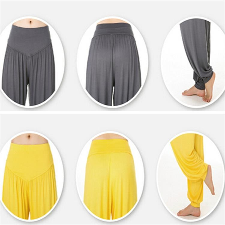 Yoga Pants Women Plus Size Colorful Bloomers Dance Yoga TaiChi Full Length Pants Smooth No Shrink Antistatic Pants Fast Shipping 2015 015