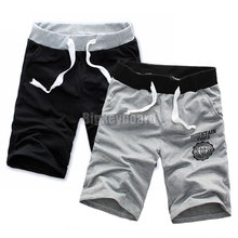 Mens Casual Gym Sport Cropped Shorts Pants Jogging Jogger Cropped Trousers Free Shipping