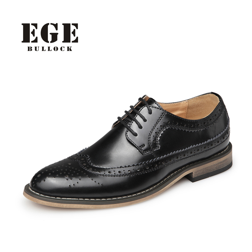 2016 High Quality Genuine Leather Bullock Men Flats Shoes,Casual British Style Men Oxfords,Fashion Brand Dress Shoes For Men(China (Mainland))