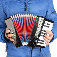 High Quality 17-Key 8 Bass Mini Small Accordion Educational Musical Instrument Rhythm Band Toy for Kids Children(China (Mainland))