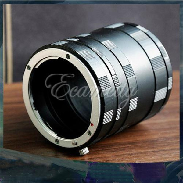Macro Extension Tube Ring Set for Canon EOS EF Mount 7D 50D 60D 550D 600D 1100D Rebel T1i XTi XS free shipping(China (Mainland))