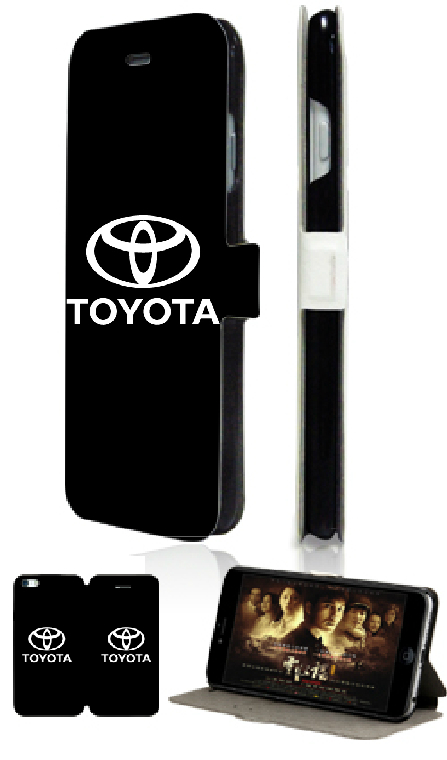 Toyota logo designs retail hot selling luxury new 2 slot card wallet leather moible phone bag for ipod touch 4 4th free shipping(China (Mainland))
