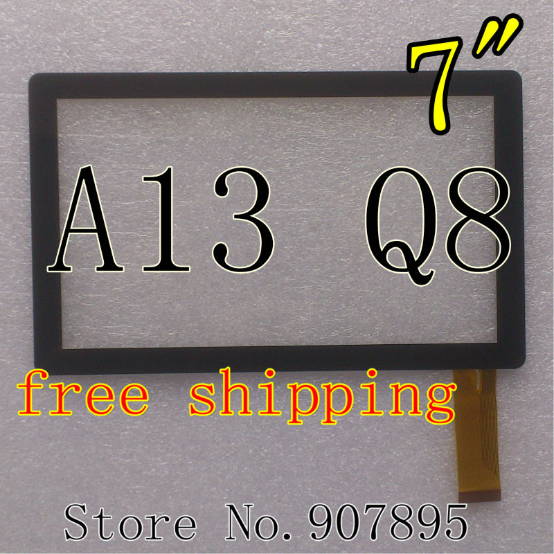"""10pcs 7inch 7"""" capacitive panel touch screen digitizer glass for All Winner A13 Q8 Q88 Tablet PC MID BSR028-V3 KDX CZY6075A(China (Mainland))"""