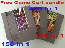 72 Pins Game Cartridge Replacement Plastic Shell For NES with Free 150 in 1, 400 in 1, 198 in 1 Game Carts
