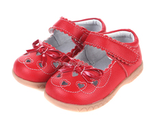 baby girls leather shoes mary jane with heart cut-outs and butterfly white pink and red wholesale retail and free shipping(China (Mainland))