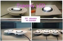 2015 New Arrival 7w 360 adjustable Bridgelux led cob downlight color white CRI>80 UL led driver AC100-240v 500pcs/lot wholesale(China (Mainland))