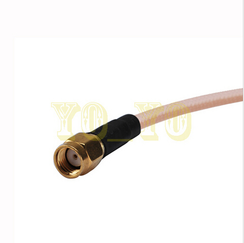 Hot Sale RF Adapter assembly RP-SMA plug to RP-SMA plug for RG400 Pigtail coaxial cable 500cm<br><br>Aliexpress