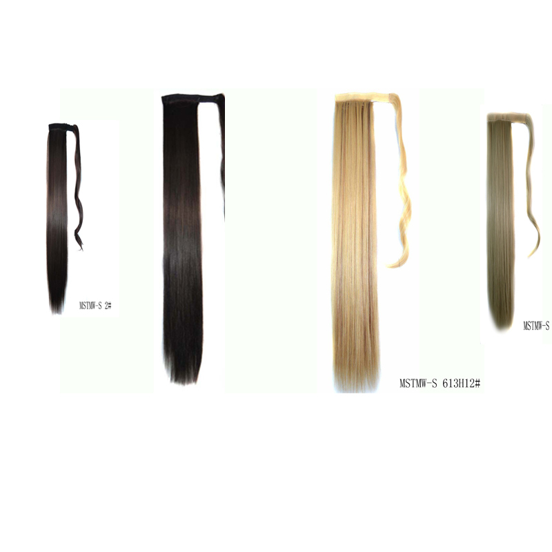 """New Fashion Real Thick 23"""" 120g Long Straight Synthetic Wrap Around Ponytail Hair Extension Pony Tail Any Colors Free Shipping(China (Mainland))"""
