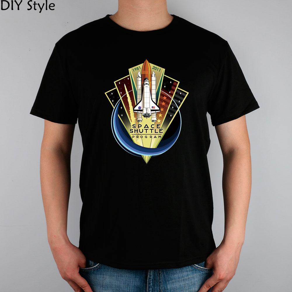 NASA Space Shuttle men short sleeve T-shirt(China (Mainland))