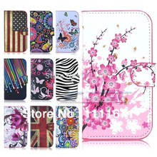 Cute Flower Butterfly Stand Flip Leather Wallet Pouch Hard Case Cover For Samsung Galaxy S3 SIII i9300 Free Shipping(China (Mainland))