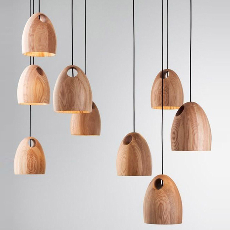 American Industrial Country Creative Personality Bucket Shape Wooden Chandelier Clothing Store Decoration Lamp Free Shipping<br>