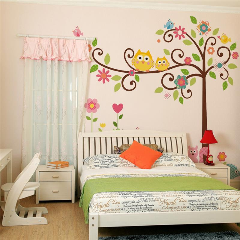 Comprar lindo wise b hos rbol pegatinas for Pegatinas pared nina