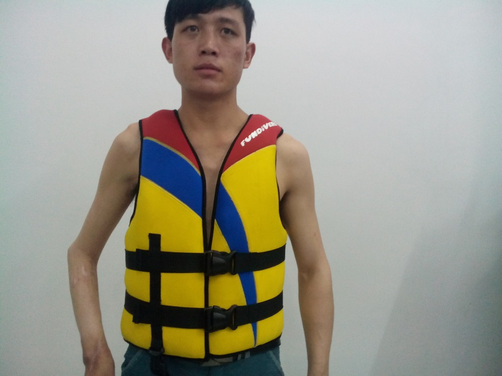 fundivers low price sales mens life jacket mens neoprene life vest buoyancy swimming water sports supplies factory direct(China (Mainland))