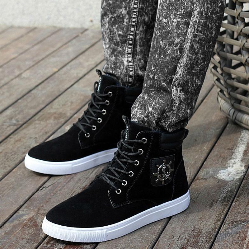Wholesale Hot 2016 Autumn Winter Warm Men Fashion Rubber Ankle Boots ... 4fd95d2319d