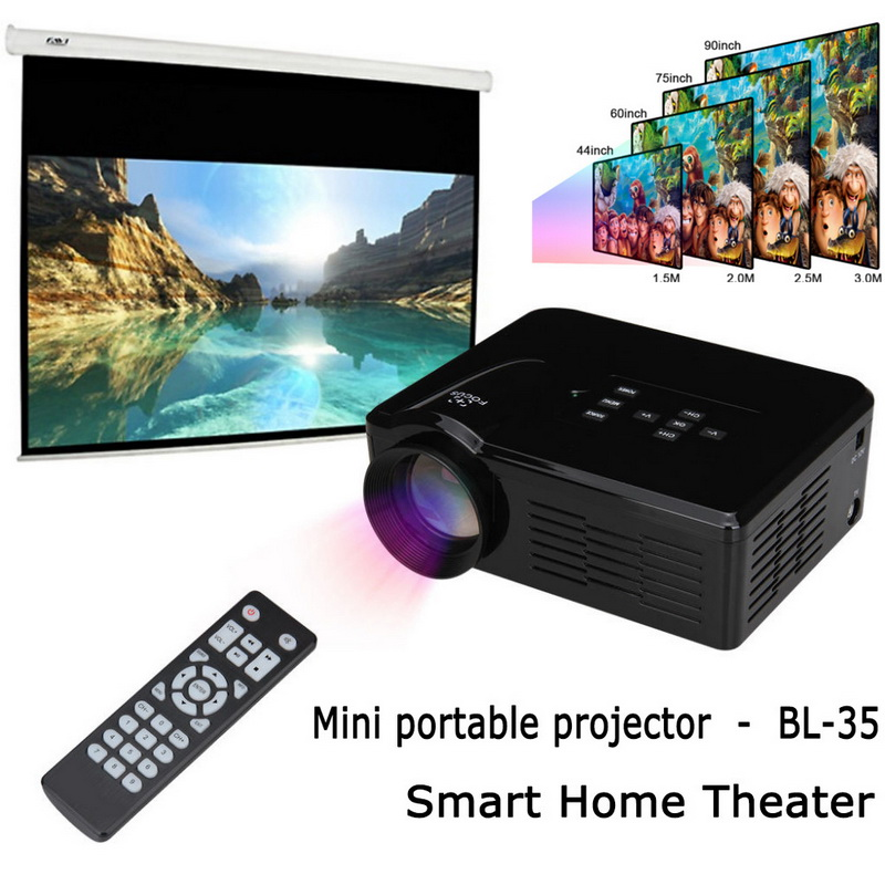 Mini led video projector bl 35 portable tv dvd game for Small video projectors reviews