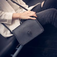 2016 Summer New Leather Women Messenger Bags Vintage Flap Ladies Mini Shoulder Crossbody Bag Solid Cover Clutch Female Handbag