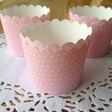 6*5*4.5cm Dots baking cupcake liners paper wrappers Valentines day Party Decoration Boda baking cups 25 pcs/lot(China (Mainland))