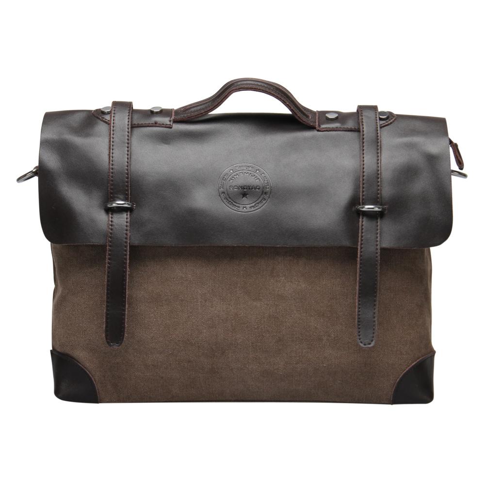 VEEVAN Wholesale Male Single-shoulder Bags men Messenger Bag Canvas with Leather Men's Travel Shoulder Bag Business Briefcase(China (Mainland))