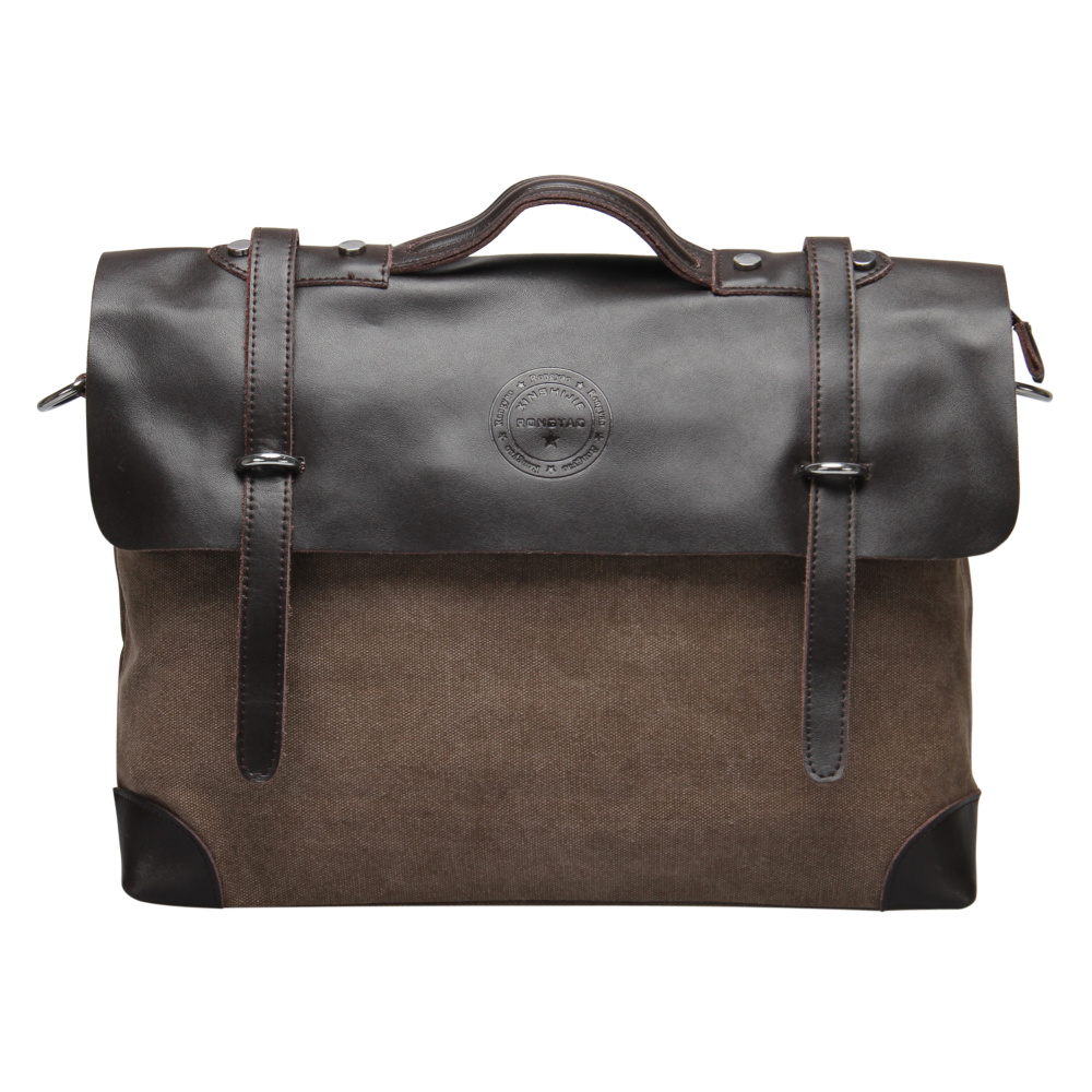 VEEVAN Wholesale Male Single-shoulder Bags men Messenger Bag Canvas with Leather Men's Travel Shoulder Bag Business Briefcase(China (Mainland))
