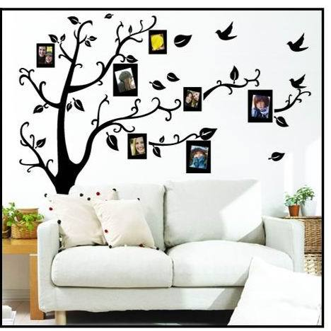 photo tree frame family forever memory tree wall decals removable pvc wall sticker home decoration DIY(China (Mainland))