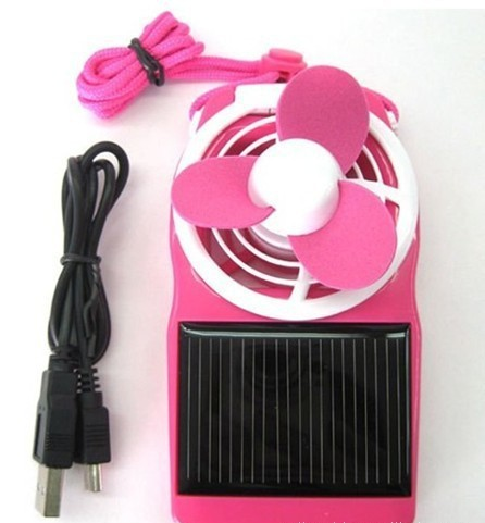 new style !Clip-on Solar Energy Cell Cooling Cool ABS+EVA Mini Fan Essential travel Free shipping(China (Mainland))